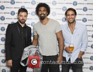 Dominic Cooper, David Haye and Luke Pasqualino