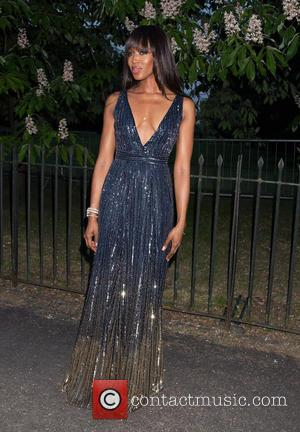 Naomi Campbell seen arriving at the Serpentine Gallery Summer Party held at Kensington Gardens, London, United Kingdom - Wednesday 6th...