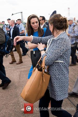 The Duchess of Cambridge (formerly Kate Middleton) at Fairford Royal International Air Tattoo. Fairford, United Kingdom - Friday 8th July...