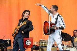 Alex Turner and Miles Kane of The Last Shadow Puppets playing T In The Park 2016. The band were asked...