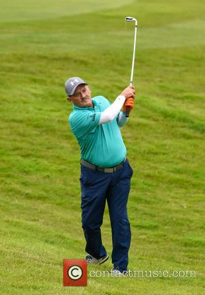 Brendan O'Carroll seen alone and with Jennifer Gibny as he takes part in The Celebrity Cup 2016 held at Celtic...