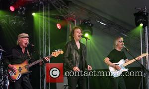 The Zombies, on the third day, delighting the crowd at Cornbury Music Festival 2016 held at the Great Tew Estate,...