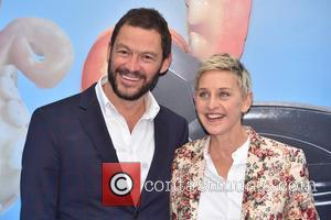 Dominic West and Ellen Degeneres
