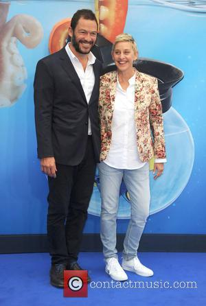 Ellen Degeneres and Dominic West