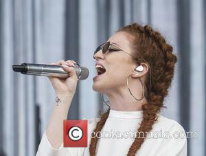 Jess Glynne wearing her trademark sunglasses at the 2016 Wireless Festival held at Finsbury Park. Jess played to a large...