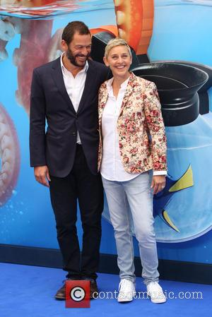 Dominic West and Ellen Degeneres
