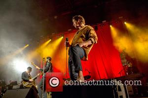 Miles Kane and Alex Turner of The Last Shadow Puppets perform live in concert at the Bournemouth International Centre, with...