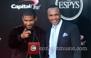 Usher and Sugar Ray Leonard at the ESPYS Awards 2016 held at Microsoft Theater - Los Angeles, California, United States...