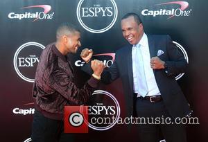 Usher and Sugar Ray Leonard