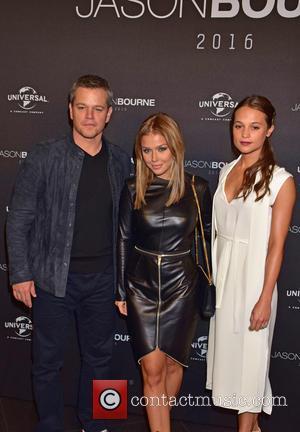 Matt Damon, Kim Gloss and Alicia Vikander