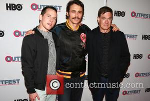Justin Kelly, James Franco and Gus Van Sant at the 2016 Outfest Los Angeles Screening Of 'King Cobra' and the...
