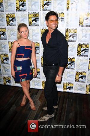 Billie Lourd and John Stamos