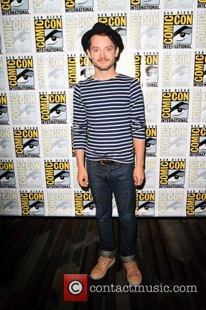 Elijah Wood and Samuel Barnett at the Comic-Con International: San Diego photocall for 'Dirk Gently', San Diego, California, United States...