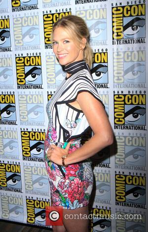 January Jones at the Comic-Con International: San Diego photocall for 'The Last Man on Earth', San Diego, California, United States...