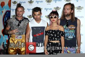DNCE (Joe Jonas, Jack Lawless, Cole Whittle and JinJoo Lee) take over REHAB Beach Club at Hard Rock Hotel &...