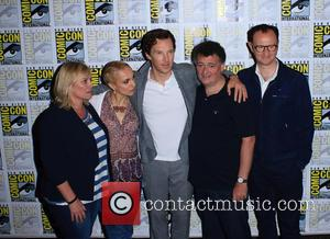 Mark Gatiss, Steven Moffat, Amanda Abbington, Sue Vertue and Benedict Cumberbatch