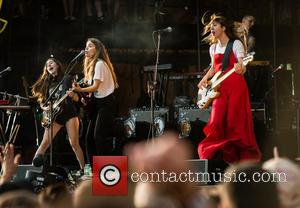 Haim performing on the third day at WayHome Music & Arts Festival 2016 held at Burl's Creek Event Grounds, Oro...
