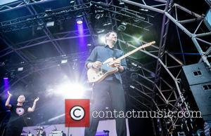 Roland Orzabal and Curt Smith of Tears for Fears appear on stage at Camp Bestival as the band close the...