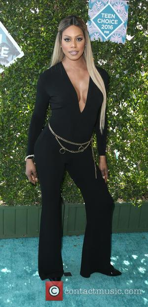 Laverne Cox wears a stylish jumpsuit to the Teen Choice Awards held at The Forum,  Inglewood, California, United States...