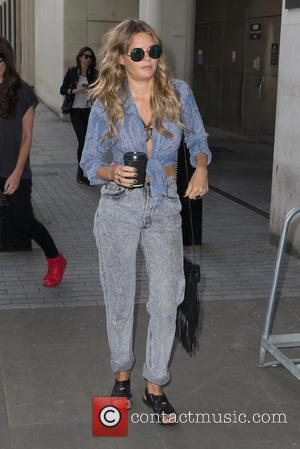 Tove Lo arriving at the Radio 1 studio to appear as a guest on the Nick Grimshaw Breakfast Show at...