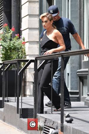 British singer Rita Ora seen leaving her apartment in Manhattan, New York, United States - Monday 8th August 2016