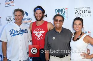 Will Ferrell, Clayton Kershaw, Dennis Gilbert and Ellen Kershaw
