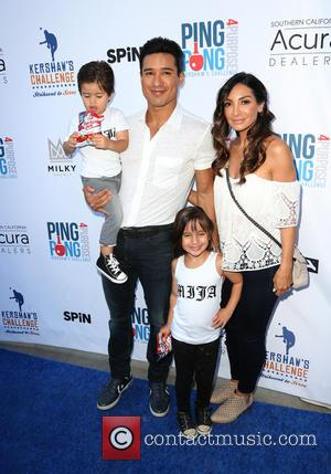 Mario Lopez and his family (Dominic Lopez, Gia Francesca Lopez, Courtney Mazza and Courtney Lopez) at Clayton Kershaw's 4th Annual...