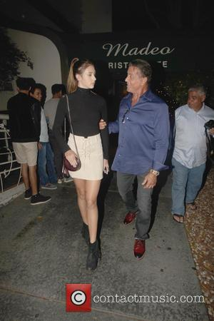 Sylvester Stallone and Scarlet Rose Stallone