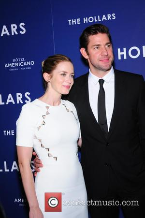 John Krasinski and his wife Emily Blunt seen attending a New York screening of John's new film 'The Hollars' which...