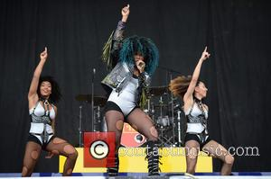 Fleur East seen on stage at the 2016 V Festival held at Weston Park, Staffordshire, United Kingdom - Saturday 20th...