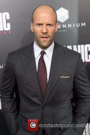 Jason Statham who plays the lead role of Arthur Bishop attending the premiere of Summit Entertainment's 'Mechanic 2: Resurrection' at...
