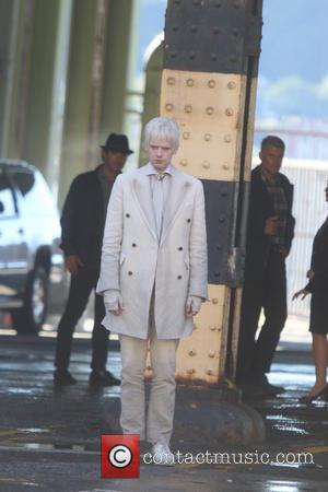 Kieran Mulcare seen on set for the filming of 'Gotham' tv show on the Streets of NY City, New York,...