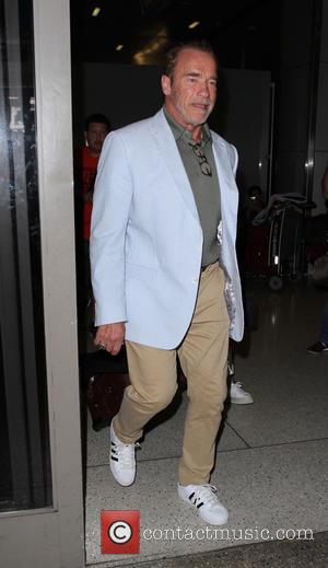 Arnold Schwarzenegger arrives at Los Angeles International Airport (LAX) - California, United States - Tuesday 23rd August 2016