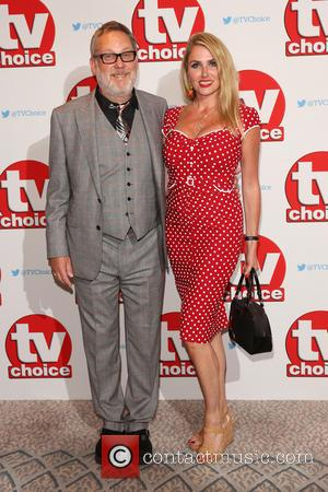 Vic Reeves and his wife Nancy Sorrell at The TV Choice Awards 2016 held at the Dorchester, London, United Kingdom...