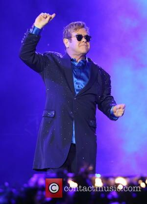 Elton John making a live performance at BBC Radio 2 Live in Hyde Park, London, United Kingdom - Sunday 11th...