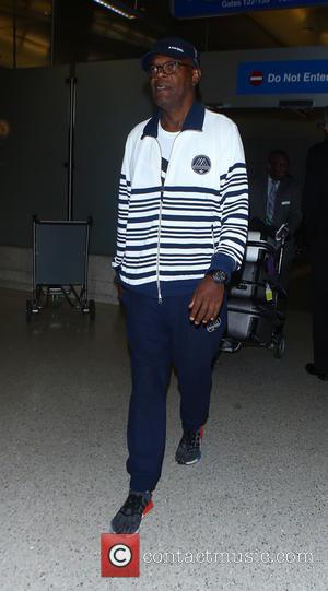 Samuel L. Jackson arrives at Los Angeles International Airport (LAX), California, United States - Wednesday 14th September 2016