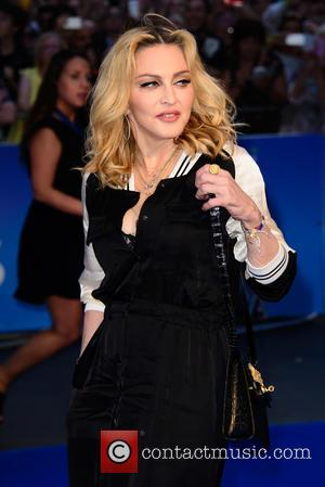 Madonna seen at the world premiere of 'The Beatles: Eight Days A Week - The Touring Years' held at The...