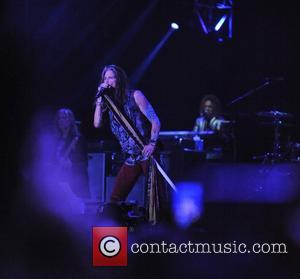 Steven Tyler and Tom Hamilton as Aerosmith perform on the Sunset Cliffs stage during the 2016 KAABOO Del Mar music...