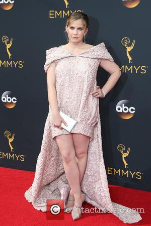 Anna Chlumsky seen on the red carpet at the 68th Annual Primetime Emmy Awards held at the Microsoft Theater Los...