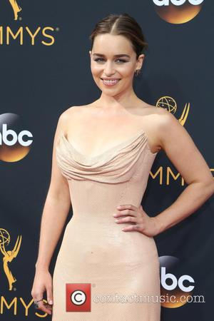 Emilia Clarke seen on the red carpet at the 68th Annual Primetime Emmy Awards held at the Microsoft Theater Los...