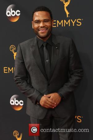 Anthony Anderson and Tracee Ellis Ross seen on the red carpet at the 68th Annual Primetime Emmy Awards held at...