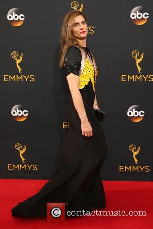 Amanda Peet seen on the red carpet at the 68th Annual Primetime Emmy Awards held at the Microsoft Theater Los...