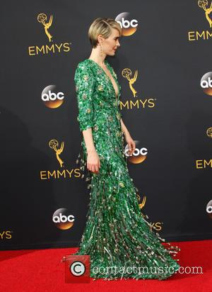 Sarah Paulson seen on the red carpet at the 68th Annual Primetime Emmy Awards held at the Microsoft Theater Los...