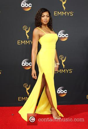 Taraji P. Henson seen on the red carpet at the 68th Annual Primetime Emmy Awards held at the Microsoft Theater...