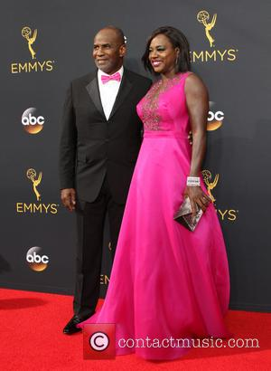 Viola Davis and Julius Tennon seen on the red carpet at the 68th Annual Primetime Emmy Awards held at the...