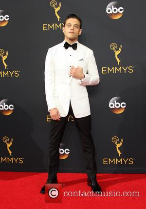 Rami Malek seen on the red carpet at the 68th Annual Primetime Emmy Awards held at the Microsoft Theater Los...