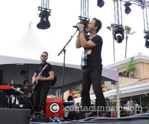 Atlas Genius (Darren Sell, Michael Jeffrey and Keith Jeffery) perform on the Trestles stage during the 2016 KAABOO Del Mar...