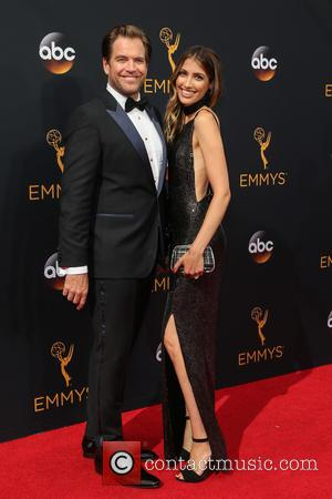 Michael Weatherly and Bojana Jankovic on the red carpet at the 68th Annual Primetime Emmy Awards held at the Microsoft...