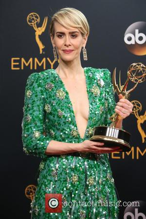 Sarah Paulson in the press room at the 68th Emmy Awards held at the Microsoft Theater, Los Angeles, California, United...