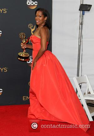 Regina King in the press room at the 68th Emmy Awards held at the Microsoft Theater, Los Angeles, California, United...